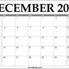 2022 December Calendar Printable – Download Free