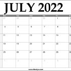 2022 July Calendar Printable – Download Free