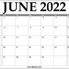 2022 June Calendar Printable – Download Free