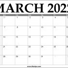 2022 March Calendar Printable – Download Free