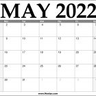 2022 May Calendar Printable – Download Free