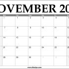 2022 November Calendar Printable – Download Free