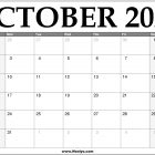 2022 October Calendar Printable – Download Free