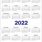 2 Year 2021 and 2022 Calendar Printable