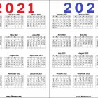 2 Year Calendar 2021 and 2022 Printable Free