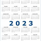 2 Year 2022 and 2023 Calendar Printable