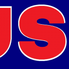 USA Red White and Blue - Blue Background