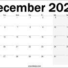 2022 UK December Calendar Printable