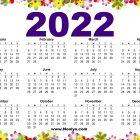 Sunday Start 2022 Printable Calendar Free