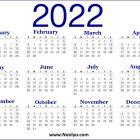 Calendar Printable 2022 A4 Paper Size Blue