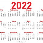 Printable 2022 Calendar A4 Size Red
